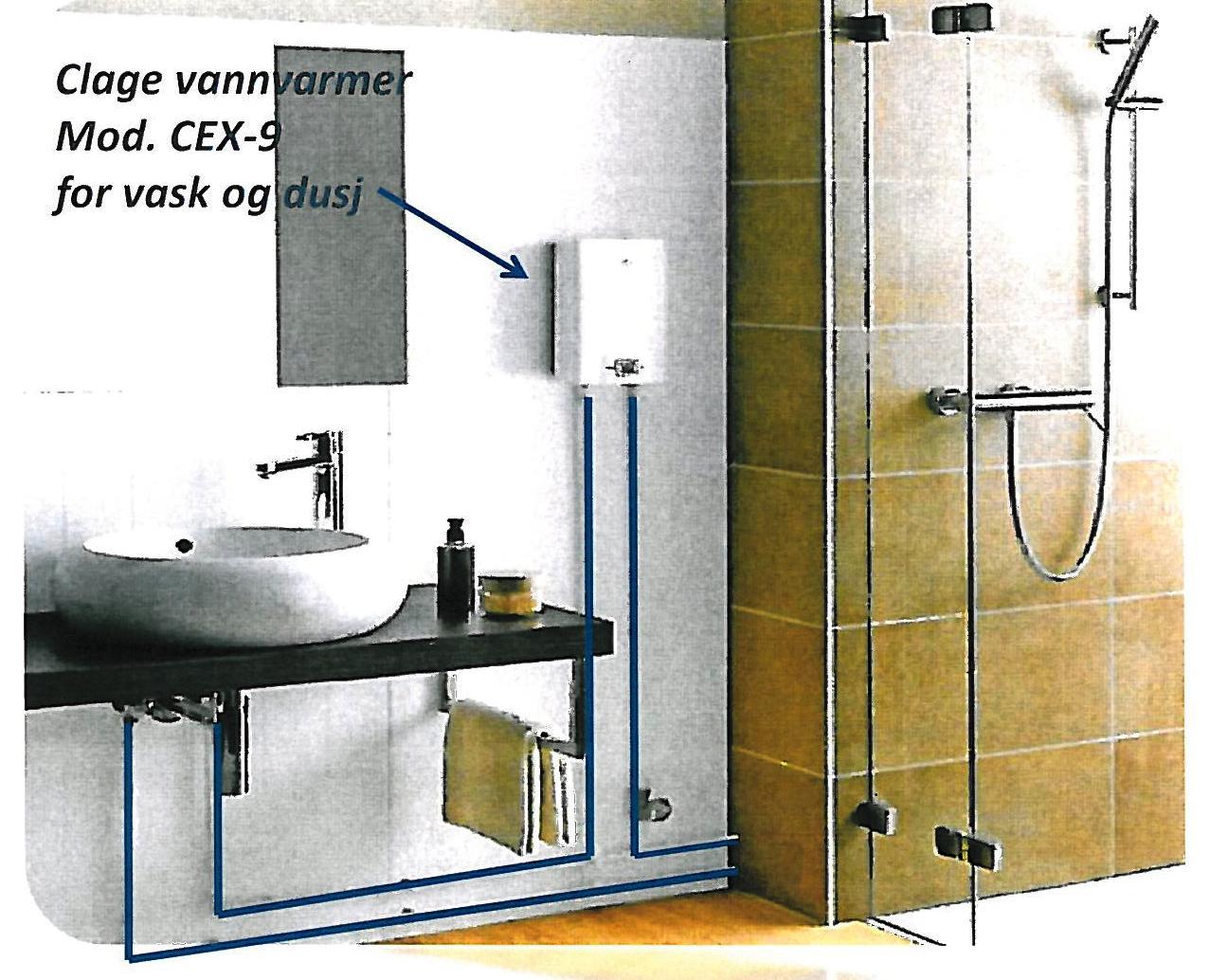 dusj uten innlagt vann